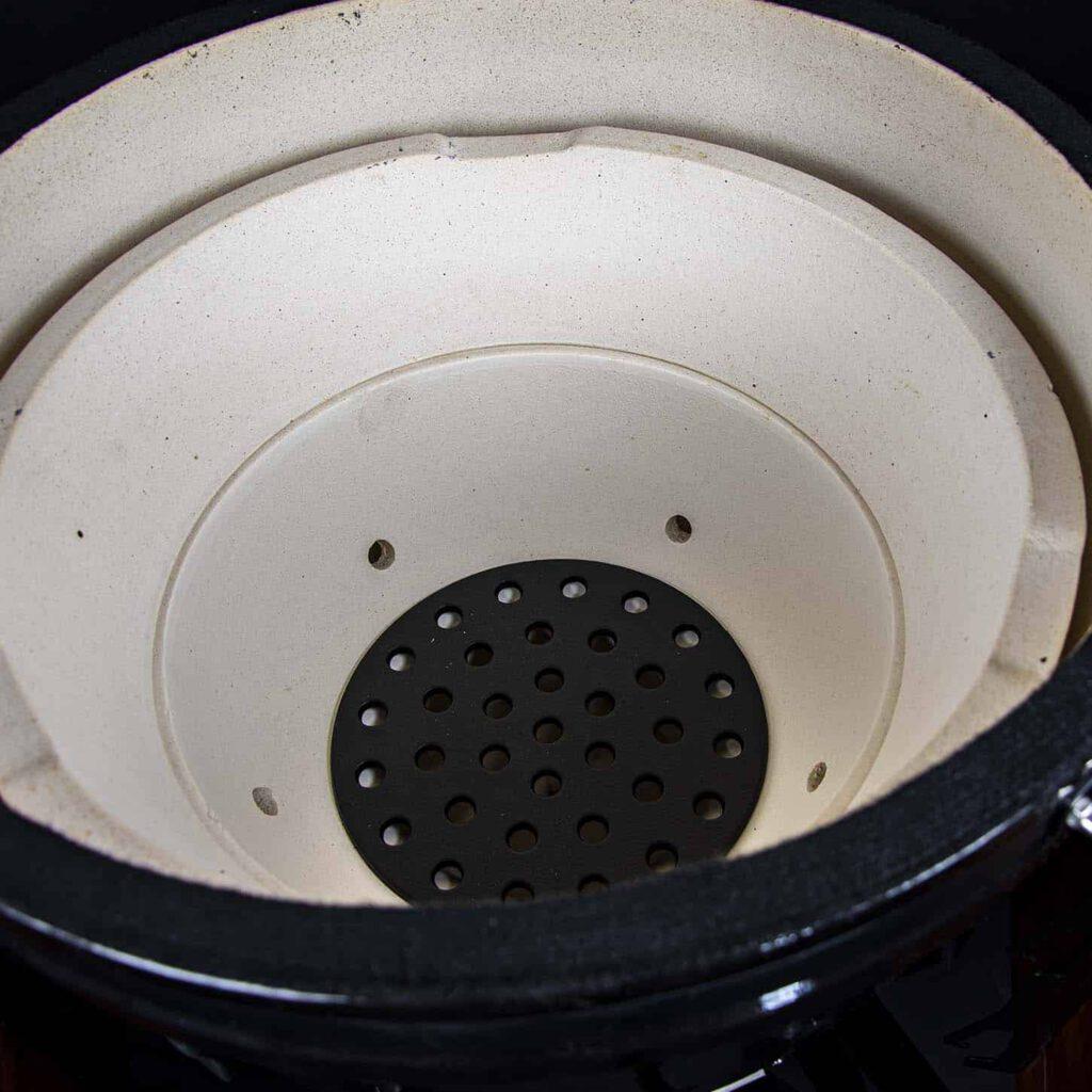 kamado bbq XL grill bill classic 23 inch binnenkant