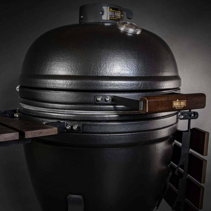 kamado bbq large grill bill pro 21 inch front left