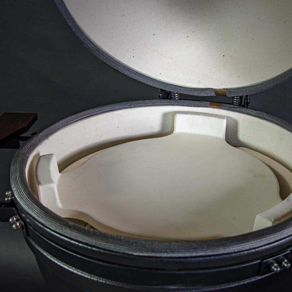 kamado bbq large grill bill pro heat deflector